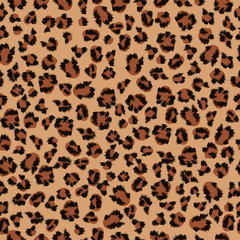Seamless background of leopard fur
