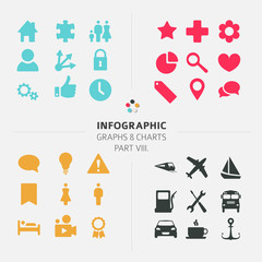 Infographic Vector icon collection