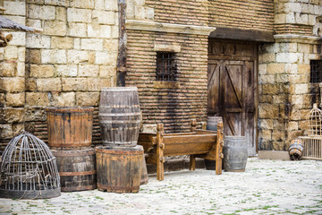 Medieval town of wood