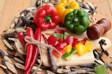 Sweet bell pepper fresh organic.