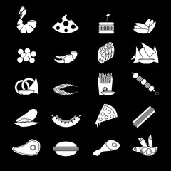 Black And White Flat Food Snacks