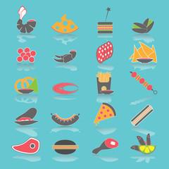Colorful Flat Food Snacks