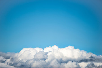 Canvas Prints White clouds on the blue sky