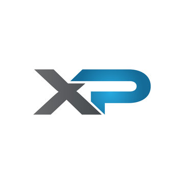 XP company linked letter logo blue