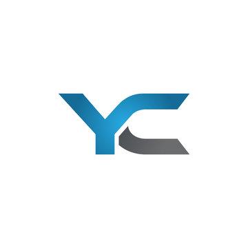 YC company linked letter logo blue