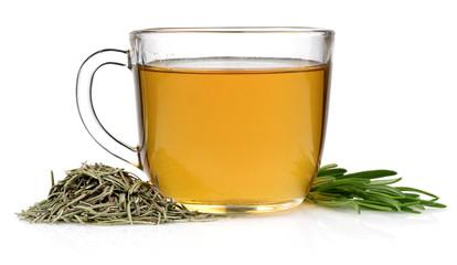 Rosemary Herbal tea with in a mug