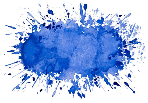 Abstract artistic blue watercolor splash object background