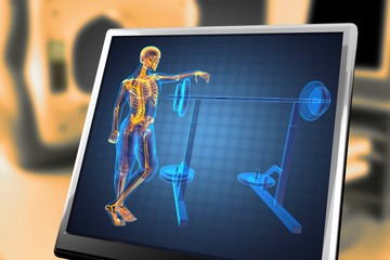 man in gym room radiography