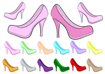 Clipart female of a shoe