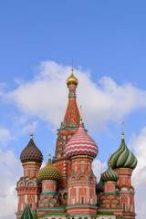 Dome of Saint Basil the great in Moscow