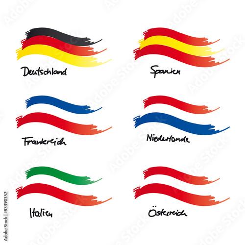 flaggen von deutschland frankreich italien spanien niederlande sterreich stockfotos und. Black Bedroom Furniture Sets. Home Design Ideas