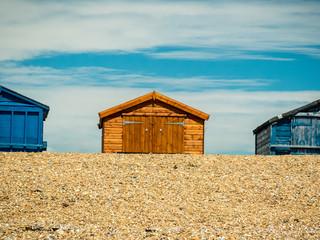 Beach huts on Hayling Island beach