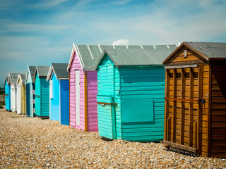 Beach huts on Hayling Island beach