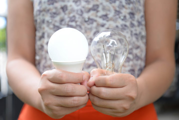 LED and Incandescent bulbs - Choice of energy