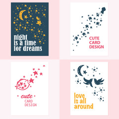 lovely postcards template collection