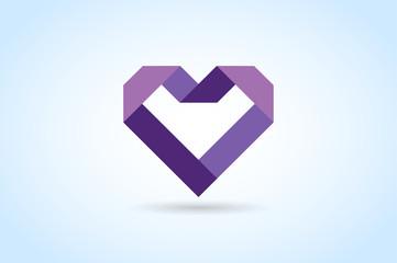 Heart icons vector logo