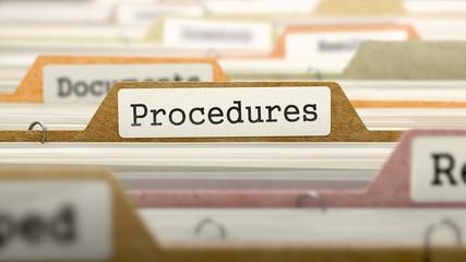 Procedures Concept on Folder Register.