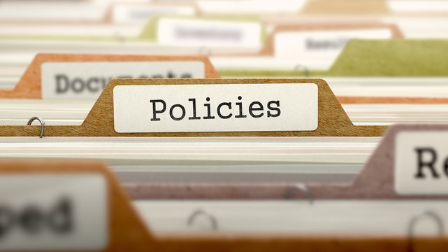 Policies Concept. Folders in Catalog.