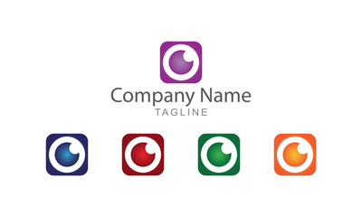 Eye Block Logo Vector Business Concept