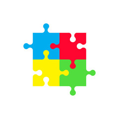 Puzzle Icon. Vector illustration.