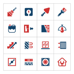 Set color icons of repair and building