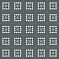 Green, Black and White Polka Dot Square Abstract Design Tile Pat