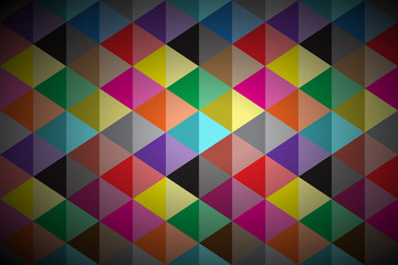 Abstract vector background, colored triangle