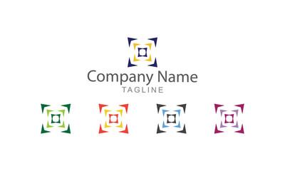 Arrow Abstract Element Vector Logo Business Concept