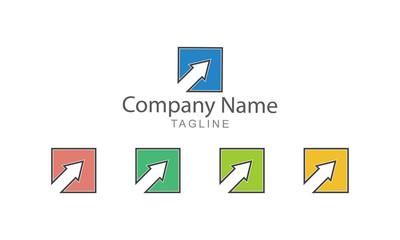 Block Arrow Logo Vector Element Business Concept
