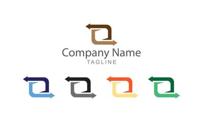 Sycn Arrow Logo Vector Business Concept