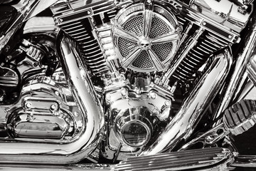 Motorcycle details Wall mural