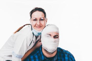 Bandaged patient