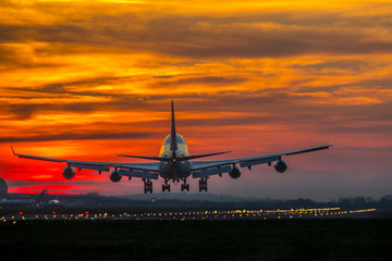 Aircraft Sunset