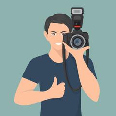 Photographer Flat Illustration