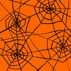 Spider web halloween pattern background