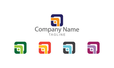 Block Arrow Logo Business Concept