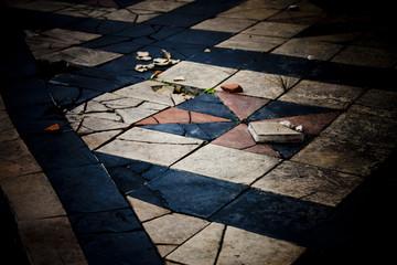 Alter Fußboden