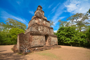 Polonnaruwa , ancient stupa. travel in Sri lanka series