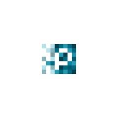 Pixelated Logo template vector