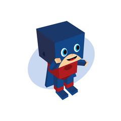 little hero block cartoon