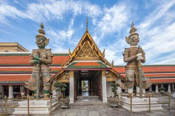 Demon Guardian in Wat Phra Kaew Grand Palace Bangkok