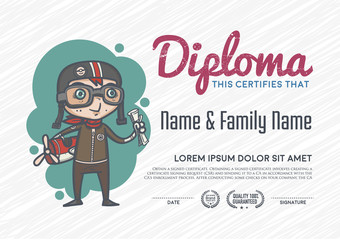 Diploma template and background design.