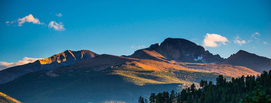 Longs Peak at Sunset Panorama