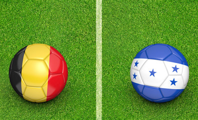 Team balls for Belgium vs Honduras soccer tournament match