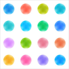 Vector Background #Watercolor texture_Polka Dots
