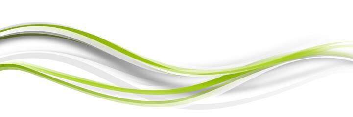 Foto auf Gartenposter Abstrakte Welle welle wellen grün Band Streifen Business
