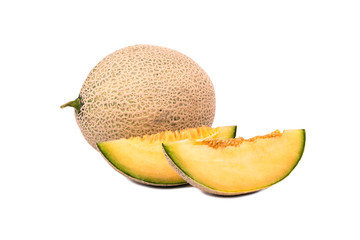 Cantaloupe melon with slice
