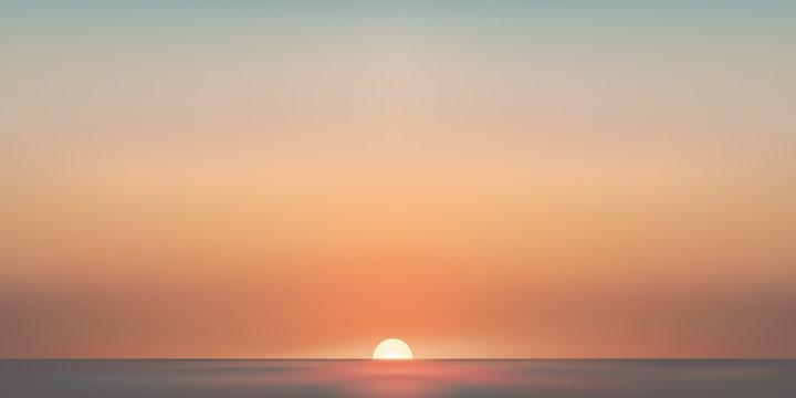 Paysage mer aube