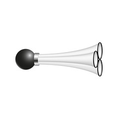 Triple air horn in black and white design
