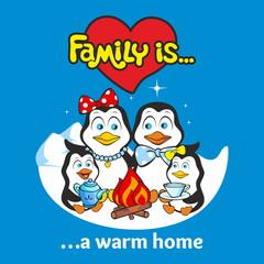 Family of penguins. Family is ...